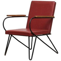 French Wire Lounge Chair in the Manner of Jean Royere Chair Upholstery, Chair Fabric, Patio Lounge Chairs, Outdoor Chairs, Small Lounge, Wire Chair, Velvet Armchair, Box Cushion, Modern Armchair