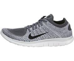 awesome Nike Women's Free Flyknit 4.0 Dark Grey/Black/Pr Pltnm/White Running Shoe 10 Women US