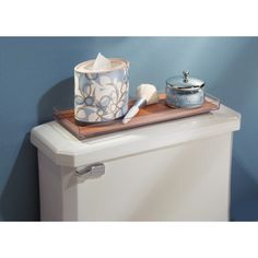 AmazonSmile: InterDesign Formbu Vanity, Tank Top Tray, Natural Bamboo: Home & Kitchen