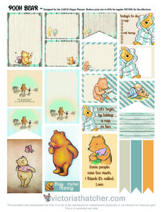 free printable for the large Happy Planner