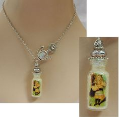 Alice in Wonderland Bottle Pendant Necklace Jewelry Handmade NEW Accessories  #Handmade #Pendant