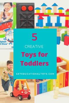 Are you looking for ways to keep a busy little one happy? Here I will reveal 5 creative toys for toddlers that will get the job done! Fun Activities To Do, Toddler Activities, Educational Toys For Toddlers, Kids Toys, Toddler Shows, Pretend Play, Crafts For Kids, Learning, Children