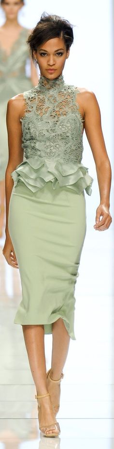 Ermanno Scervino - This is a glam choice of colour. pretty calm and collected! <3