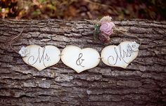 Hand Engraved Mr. & Mrs. Banner Perfect Chair Signs by PNZdesigns, $24.50