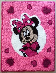 MINNIE MOUSE DISNEY RUG CARPET MAT CHILDREN KIDS BEDROOM HANDMADE 26 x 34 INCH Minnie Mouse Room Decor, Minnie Mouse Wall Decals, Minnie Mouse Nursery, Minnie Mouse Toys, Carpet Mat, Rugs On Carpet, Disney Bedrooms, Baby Girl Room Decor, Baby Girl Dolls