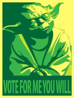 Yoda for President by ~Draikairion via deviantART