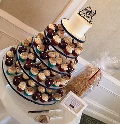 Fall Wedding Cape Cod:  Red Velvet Sweetheart Cake, Cupcakes: pumpkin spice, death by chocolate, and chocolate chip cookie dough.  Lithuanian Honey Cake on the right