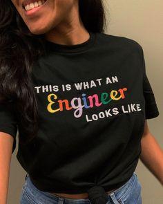 Enter your custom text! Personalized Shirts, Custom Shirts, Engineering Girls, Slim Body, 30 And Single, Short Sleeve Tee, Rib Knit, Unisex, Shoulder Taping