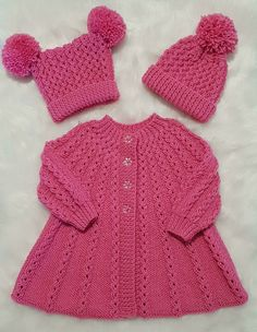 Knitting Baby Girl, Baby Cardigan Knitting Pattern Free, Baby Sweater Patterns, Knitted Baby Cardigan, Knit Baby Sweaters, Knitted Baby Clothes, Knitting For Kids, Finger Knitting, Scarf Patterns