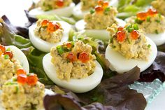 Smoked Oyster Deviled Eggs from Kalamazoo Outdoor Gourmet