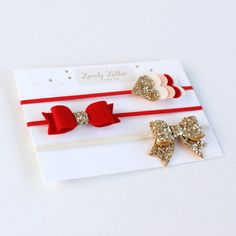 This is a unique and beautiful set of 3 headbands made of highest quality materials.    DETAILS  100% Wool Felt  Gold Glitter Fabric  Comes