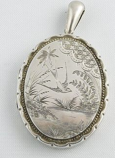 Victorian Sterling Silver Locket - 1882!