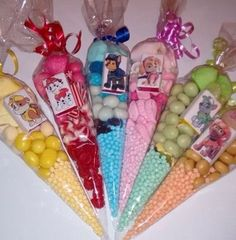 Large Paw Patrol Themed Pre Filled Sweet Cones Birthday Party Bags