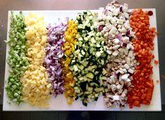 Il nostro tagliere delle verdure appena tagliate, pronte per essere cucinate e utilizzate in diverse pietanze gustose (cous cous, torte salate. sformati)