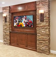"""Traditional Basement Small Basement Remodeling Ideas Design, Pictures, Remodel, Decor and Ideas - page 30 by marissa."" This would be perfect for our Family Room. Small Basement Remodel, Basement Renovations, Home Renovation, Home Remodeling, Basement Ideas, Basement Walls, Dark Basement, Basement Lighting, Cottage Renovation"