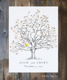 Leave an impression of a memorable day with a unique, and personal, way to record your guests! Interactive, creative and a beautiful keepsake to cherish for years to come! Unlike a boring guest book that sits on a table, collecting dust, this guestbook alternative is a work of art to hang