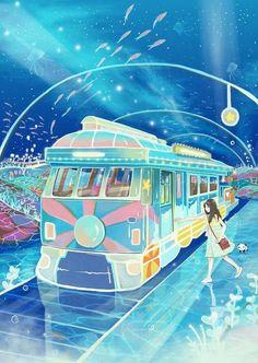 Tagged with wallpaper, mildly interesting, anime, aww, dump; Pretty Art, Cute Art, Chinese Tattoo Designs, Manga Art, Anime Art, Yuumei Art, Desu Desu, Japon Illustration, Train Illustration