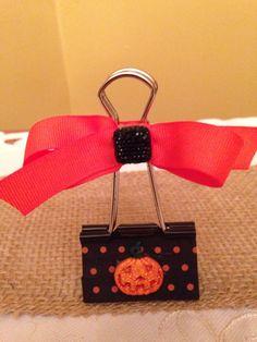 Halloween Binder Clip