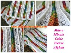 13 more rainbow #crochet patterns - Meladora's creations free afghan pattern