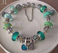 I just can't pin this Pandora bracelet often enough. Inspiring colour selection!