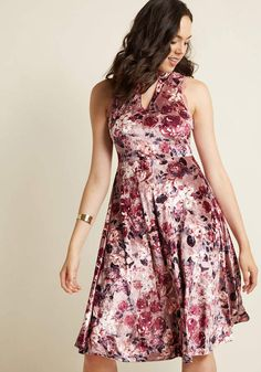 ModCloth Looking Swell in Velvet Midi Dress in S - Sleeveless A-line