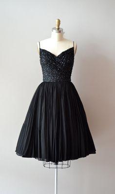 1960s dress   beaded cocktail dress   Last Dance dress