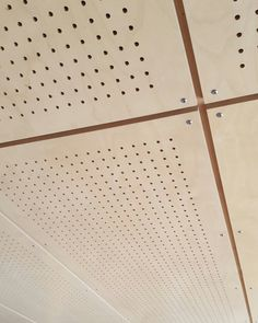 Perforated Birch plywood panels