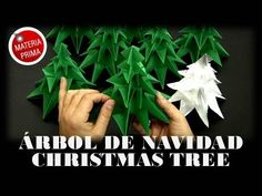 ▶ Árbol de Navidad / Christmas tree Origami - YouTube