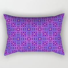 """PURPLE PANACHE PATTERN by Peter Gross  Our Rectangular Pillow is the ultimate decorative accent to any room. Made from 100% spun polyester poplin fabric, these """"lumbar"""" pillows feature a double-sided print and are finished with a concealed zipper for an ideal contemporary look. Includes faux down insert. Available in small, medium, large and x-large."""