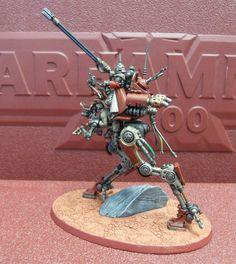 [Fan Art] - [artisan/miniatures/fanart] - Warhammer 40K Adeptus Mechanicus Ironstrider - by: Badgroth