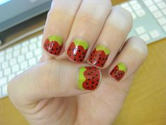 Strawberry Shortcake Nails