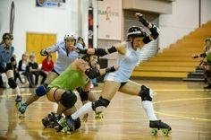 Roller Derby skater profiles for Dunedin Derby. Roller Derby, A Team, Skate, Champion, Basketball Court, Running, Girls, Sports, Hs Sports