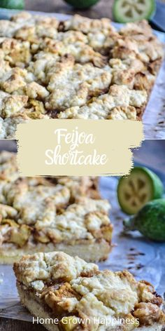This simple feijoa shortcake is a great way to use excess feijoa. A sweet and sticky feijoa filling, sandwiched between two layers of buttery shortbread-style cake. Feijoa Recipe - Pineapple Guava - From Scratch Guava Recipes, Cake Recipes, Pineapple Guava, Meals For One, A Food, Food Processor Recipes, Meal Planning, Sweet Treats, Easy Meals