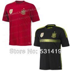 Shirt Spain 2014 Jersey World Cup Shirt Best Thai Quality Sergio Ramos Xavi Casillas Iniesta Torres Home Red Spain Soccer Jersey $28.50 - 29.50