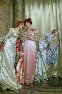 Regency romance author, Mary Moore, freely admits that Charity Girl is not one of her favorites among Georgette Heyer's Regency novels. Nevertheless, today she gives this book its due, compar… Old Paintings, Beautiful Paintings, Jane Austen, Renaissance Kunst, Victorian Paintings, Historical Art, Classical Art, Renoir, Fashion History