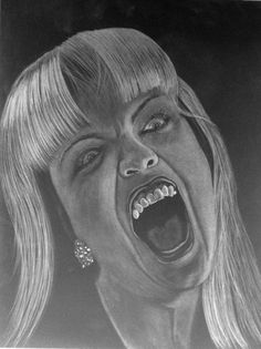 "ARTFINDER: Screaming Laura Palmer by Scott Jeffrey Valline - I have been experimenting with a new style of drawing; I'm not exactly sure what to call it, other than a sort of ""negative photograph"" type of technique. I ..."