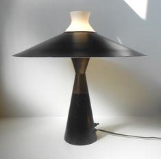 Very rare 'Diablo' Table Lamp by Svend Aage Holm-Sorensen, circa 1950 - at www.retro-design.dk: http://retro-design.dk/butik/sjaelden-svend-aage-holm-soerensen-bordlampe-ca-1950/