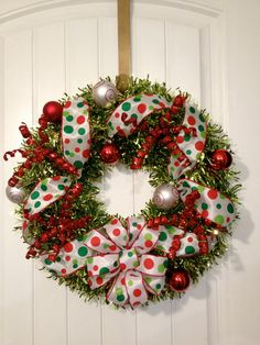 Red Green Colorful Bright Christmas Wreath