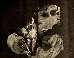 Still from the American film Little Orphant Annie (1918) with Colleen Moore, on page 7 of the February 1