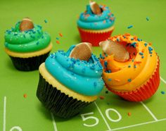 Magnolia Bakery anota en grande con estos cupcakes del Super Bowl. #MagnoliaBakery #SuperBowl #Cupcake