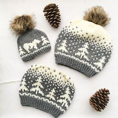 Kodiak Kisses Knitting pattern by Athena Forbes - Strickmuster Christmas Knitting Patterns, Baby Knitting Patterns, Crochet Patterns, Knitting Projects, Crochet Projects, Sewing Projects, Motif Fair Isle, Knit Crochet, Crochet Hats