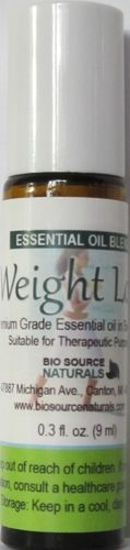 Weight Loss Essential Oil Roll On 0.3 fl oz / 9 ml, $8.95. Our weight loss blends combines the citrus powers of Lemon and Pink Grapefruit with Peppermint. All oils are known to reduce the appetite, food cravings and sweet cravings after inhalation.  These oils are also considered helpful in the reduction of cellulite.