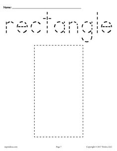 Free Printable Rectangle Tracing Worksheet