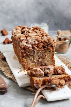 Banana Bread Recipes, Cake Recipes, Strudel, Vegan Sweets, Vegan Foods, Sweet Recipes, Snacks, Bakery, Sweet Treats