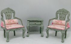 Shabby Chic Dollhouse Furniture by Deb Roberts of Deb's Minis   Flickr - Photo Sharing!
