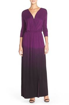 Fraiche by J Tie Dye Faux Wrap Maxi Dress available at #Nordstrom