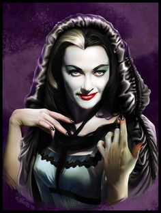 Lily Munster by elirain on DeviantArt Munsters Tv Show, The Munsters, Munsters House, Lily Munster, Arte Horror, Horror Art, Horror Movies, Female Vampire, Vampire Queen
