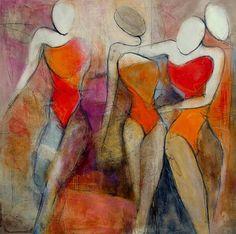 """Angela Fusenig, """"Figürlich"""" Mit einem Klick auf 'Als Kunstkarte versenden' versenden Sie kostenlos dieses Werk Ihren Freunden und Bekannten."""