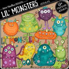 cute monsters - the green with yellow spots is too cute!