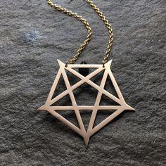 ARCANA Pentagram  Pentagram Necklace Witch by VanDerZandenDesign
